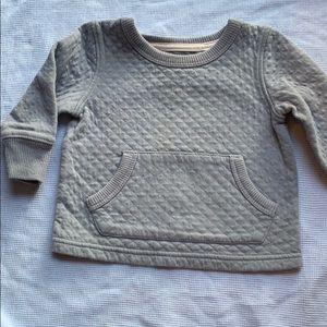 Blue quilted sweatshirt